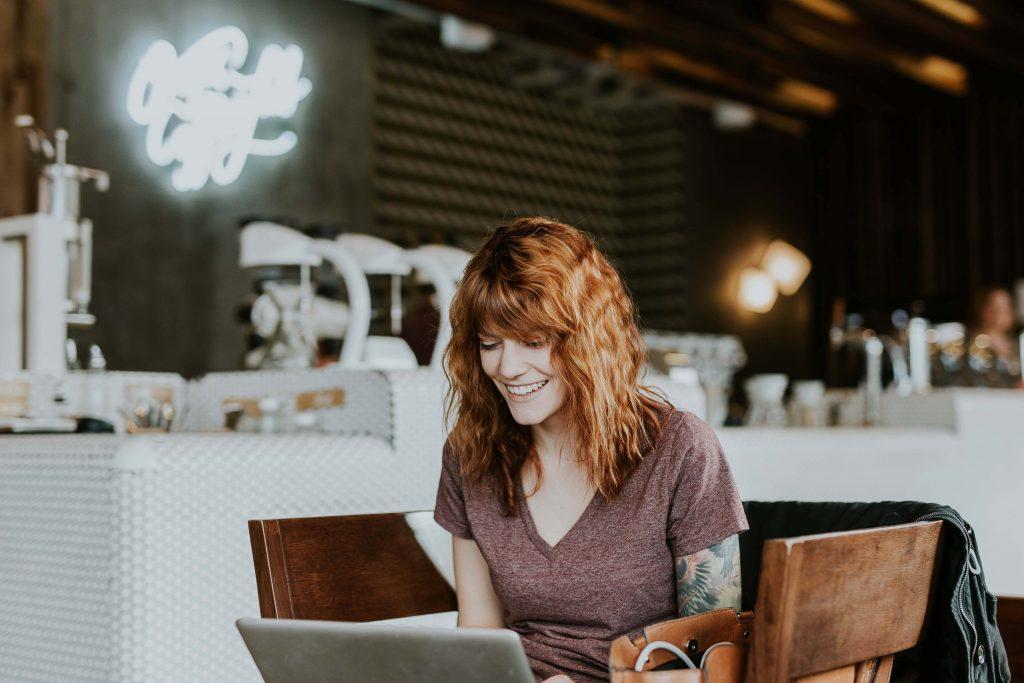 women building small business website
